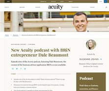 Dale has been featured in New Acuity